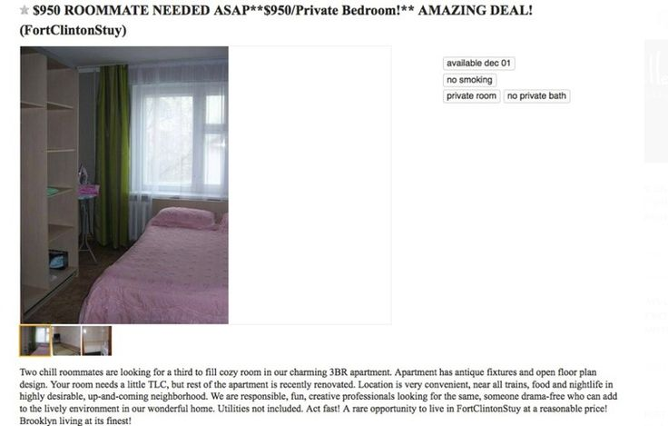 """NYC Craigslist Apartment Rental Ads Decoded, Because """"Cozy"""" Is Just Another Way of Saying """"Miniscule"""" 