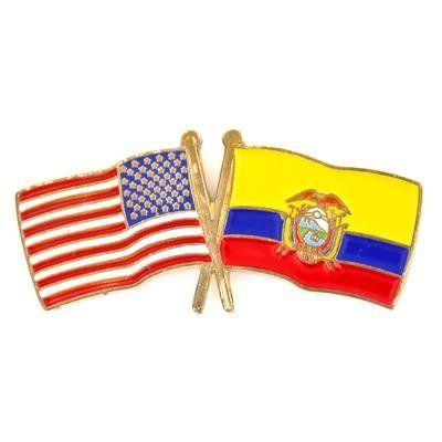 USA & Ecuador Flag Pin . $3.95