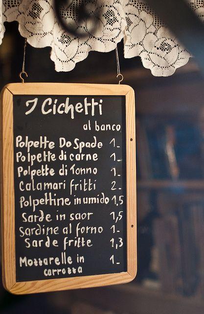 blackboard menu, timber frame