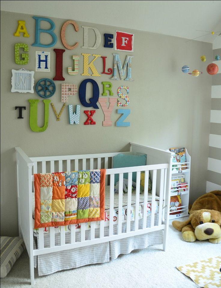 Ideas For A Baby Boy Nursery Design: Alphabet Wall Part 61