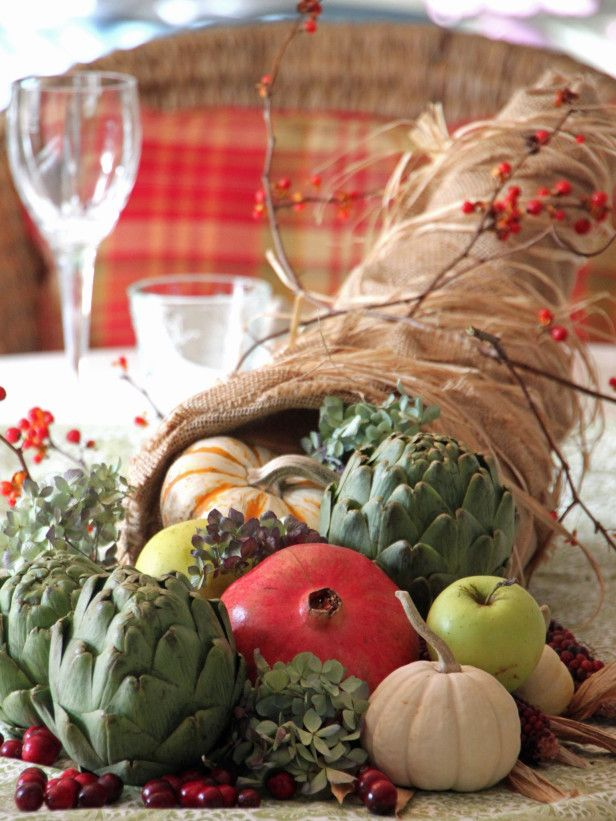 Thanksgiving centerpiece ideas diy cornucopia gt http