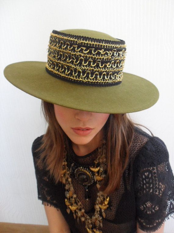 1970s SPANISH Hat WIDE Brim Hat WOOL Hat by iloveswift on Etsy,