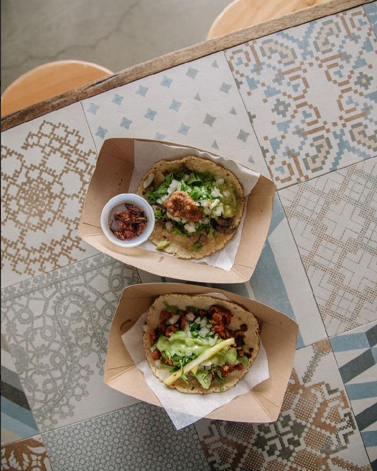 Rolling deep with the classics on #NationalTacoDay: Carne Asada  Adobada taco with a side of Chapulines   Happy Taco Tuesday San Diego #TacosPerla | #QueSeaUnGranDia | #SanDiego