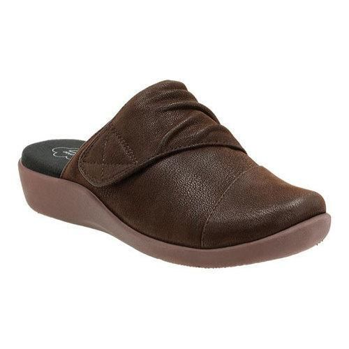 Women's Clarks Sillian Rhodes Slide Dark Synthetic Nubuck