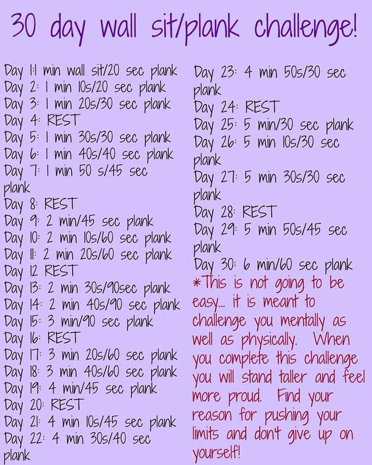 Plank and Wall Sit Challenge