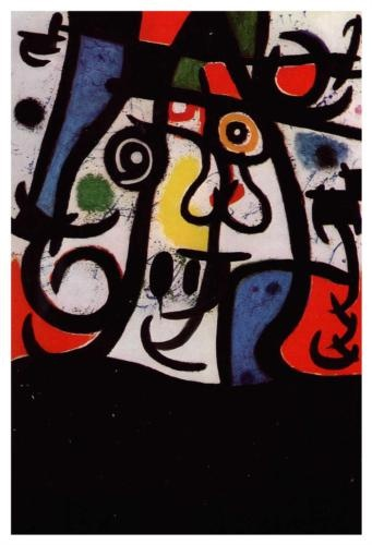 Woman and Birds - Joan Miro