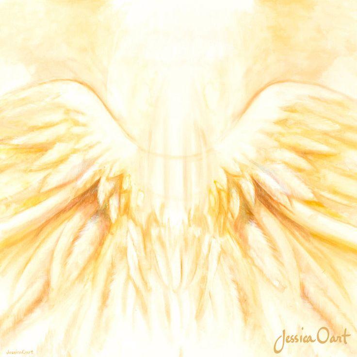 Prophetic art Angel Wings, original acrylic painting ...