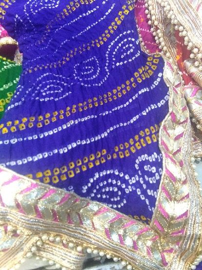 e6f1964ae0 Hand tie-dyed beautiful colourful bandhani dupatta with laces around it. Rajasthani  bandhani work. Long and Lightweight. Avilable in many colours - Red ...