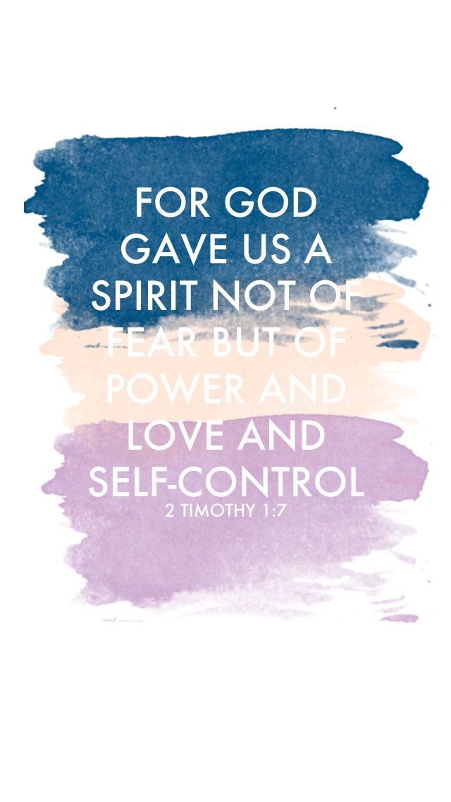 God Love Quotes Wallpaper : 2 Timothy 1:7 wallpaper cell Phone Wallpaper Pinterest A tattoo, October and God