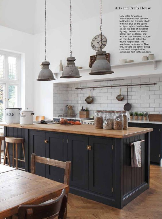 The Arts and Crafts Shaker Kitchen by deVOL is featured in the February 2018 iss…