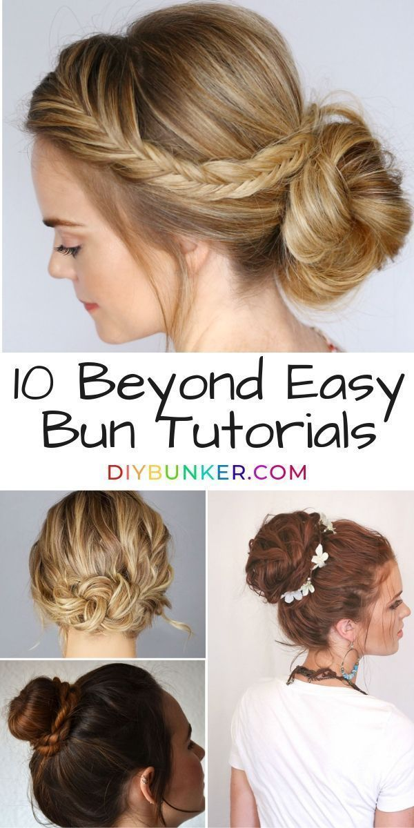 Looking To Get The Perfect Messy Bun Now You Can With All Video Tutorials Of Dozens Of Messy Buns You Can Bun Hairstyles Easy Hairstyles Easy Bun Hairstyles