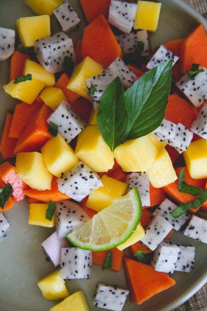 tropical fruit salad healthy fruit images