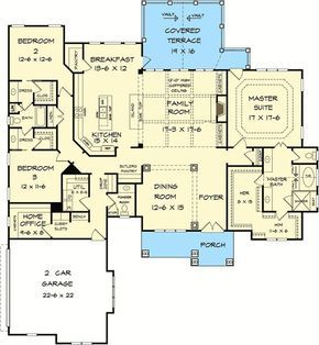 2896 sq ft. One Level Luxury Craftsman Home - 36034DK | Craftsman, Mountain, 1st Floor Master Suite, Butler Walk-in Pantry, CAD Available, Den-Office-Library-Study, Jack & Jill Bath, PDF, Corner Lot | Architectural Designs