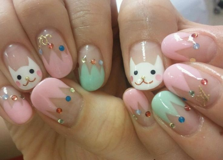129 best cute cat nail art designs by nded images on Pinterest | Cat ...