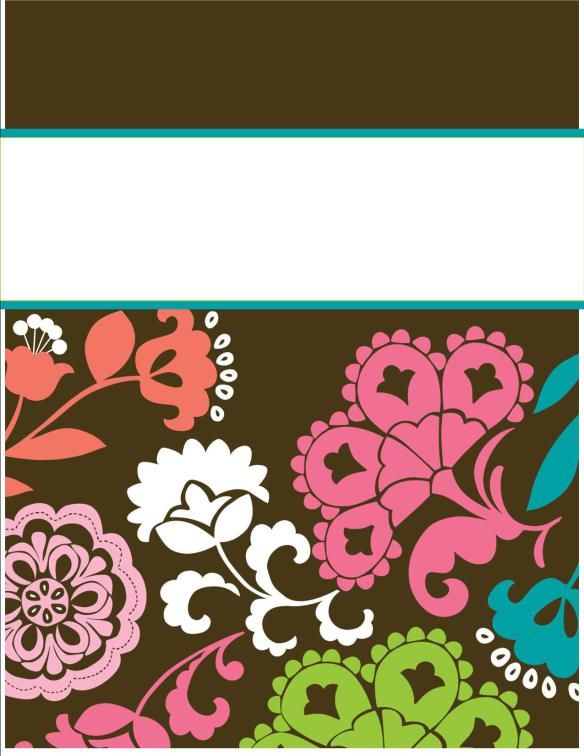 Vera Bradley and Lily Pulitzer binder cover templates
