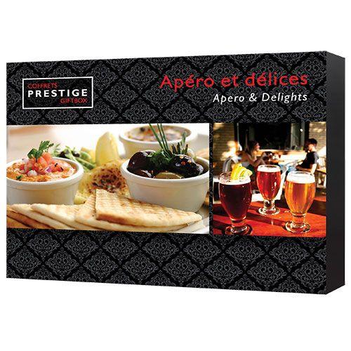 Coffrets Prestige : Apéro et délices | Idée Cadeau Québec http://www.ideecadeauquebec.com/coffrets-prestige-apero-et-delices/