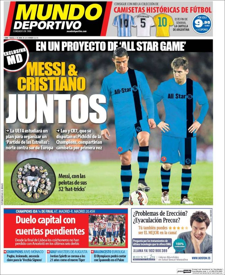 Portada Mundo Deportivo 14/04/2015