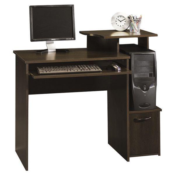 Beginnings 40 Inch Sauder Computer Desk Cinnamon Cherry Small Computer Desk Compact Computer Desk Sauder Computer Desk Computer desk 40 inches wide