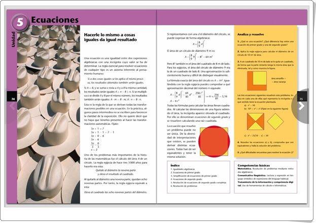 "Unidad 5 de Matemáticas de 3º de E.S.O.: ""Ecuaciones"""