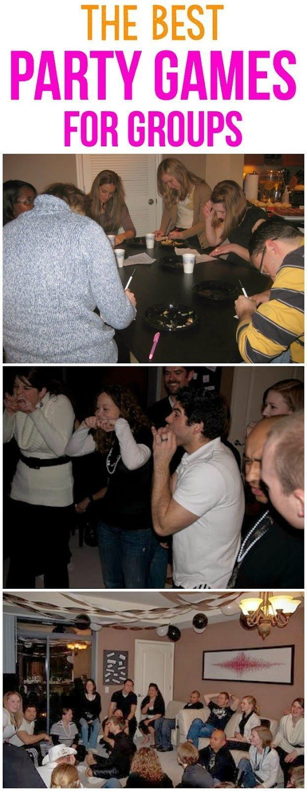 Five awesome party games that are perfect for adults, for teens, or for a large group! Perfect for having fun for a birthday party or Christmas without alcohol! Seriously the most hilarious party games ever! Definitely some of the best ones out there.