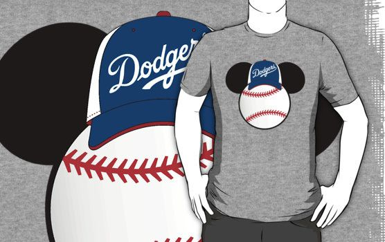 Los Angeles Dodgers Mickey Mouse baseball T-shirt by My Heart Has Ears  54f5849cb25