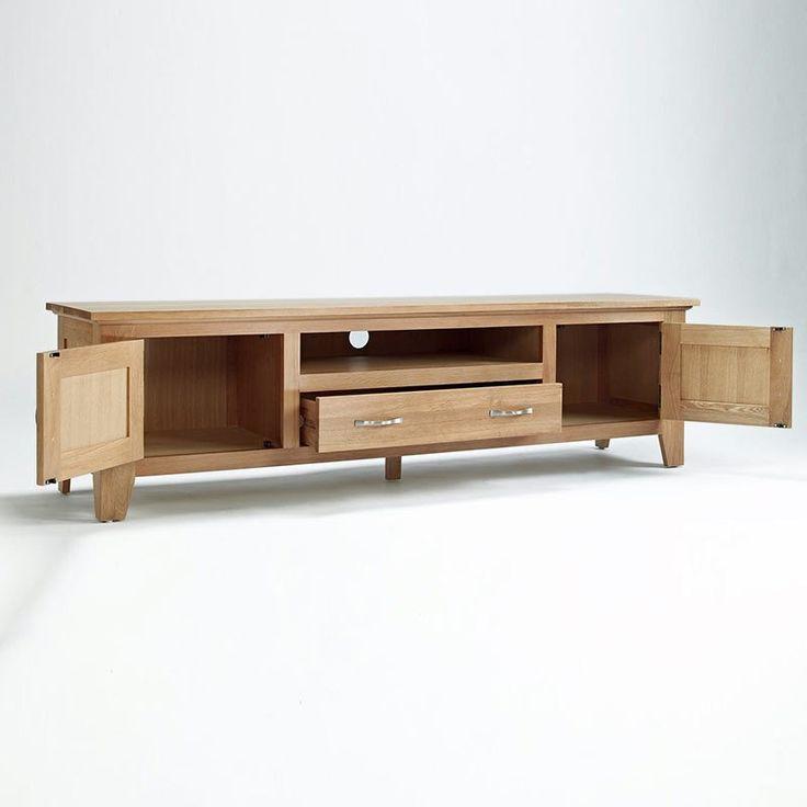 Sherwood Solid Oak TV Unit (Size Small, Large) - - TV Unit - Ametis - Space & Shape - 1