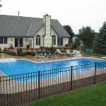 L Shaped Swimming Pool Wisconsin | L Shapes Pool Designs | Pictures of L Shaped Pools | Custom Inground Swimming Pool Installations | Bob's Pool Builders Wisconsin