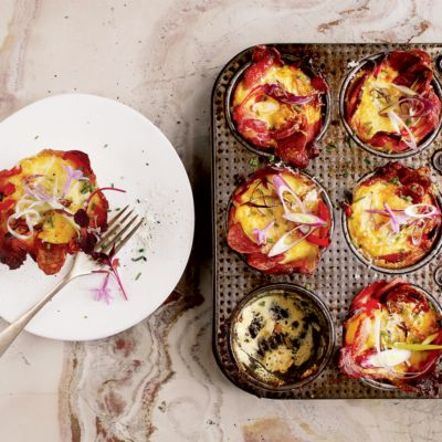 Taste Mag | Bacon, egg and cheese tartlets @ https://taste.co.za/recipes/bacon-egg-and-cheese-tartlets/