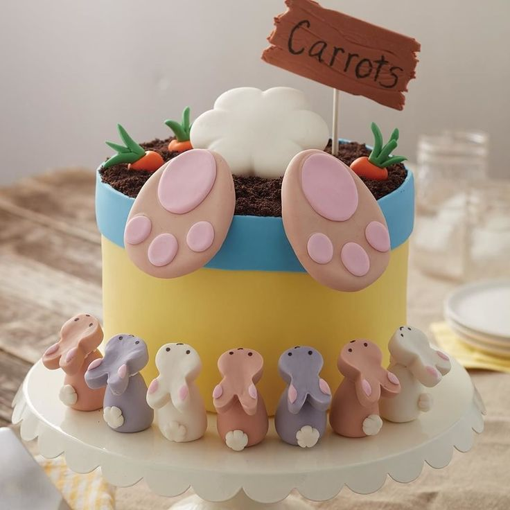 """11.2k Likes, 115 Comments - Wilton Cake Decorating (@wiltoncakes) on Instagram: """"This BunnyButt Cake will make an adorable dessert at your Easter  gathering! Link in profile…"""""""