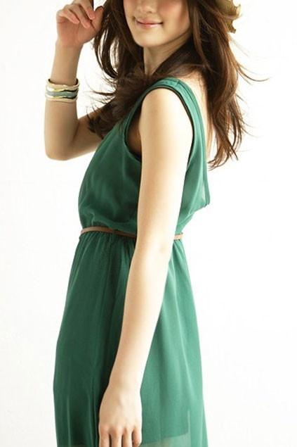 Sheer Sleeveless Ankle Length Dress