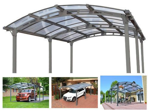 Metal-Garage-Carport-Canopy-Shelter-Single-Car-Aluminum-Shed-Kit-Cover-Outdoor
