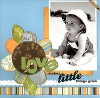 two peas in a bucket!: Big Flower, Scrapbook Pages Layout, Paper Flower, Boys, Scrapbook Idea, Baby Scrapbook, Scrapbook Layout, Scrapbook Baby, Beaches Baby
