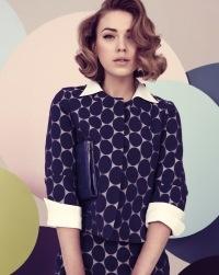50's, fashion, 1950's, vintage, polka dot, pastell, 50's fashion, hair, hairstyle    Photo: Tomas Falmer/LundLund