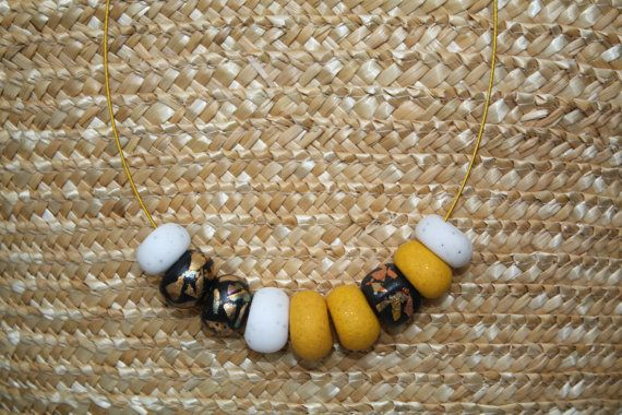 Unique beads necklace by GATOHANDMADE on Etsy, $10.00