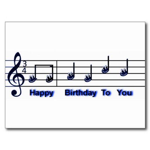 Best  Happy Birthday Music Notes Ideas On   Birthday