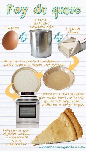 receta fácil de pay de queso