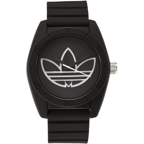 Adidas ADH3189 Black & White Watch ($37) ❤ liked on Polyvore featuring men's fashion, men's jewelry, men's watches, white, mens water resistant watches, mens watches, mens diamond bezel watches, mens stainless steel watches and mens leather strap watches