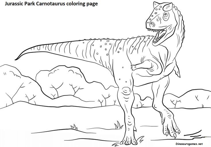 Coloring Online The Free Dinosaur Jurassic Park Carnotaurus Coloring Page Available At Dinosaursgam Dinosaur Coloring Pages Dinosaur Pictures Dinosaur Coloring