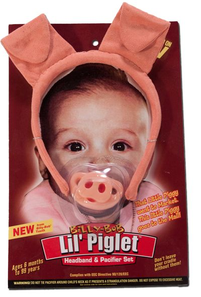 If our cute little piggy pacifier is not enough to complete the look for your little piggy, throw in this cute headband to give them some little piggy ears!