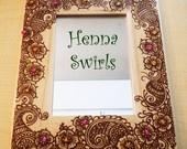 Henna on wood - simple frame