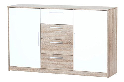 Light Wood White Sideboard With Different Size Units Sideboard Storage White Sideboard Storage