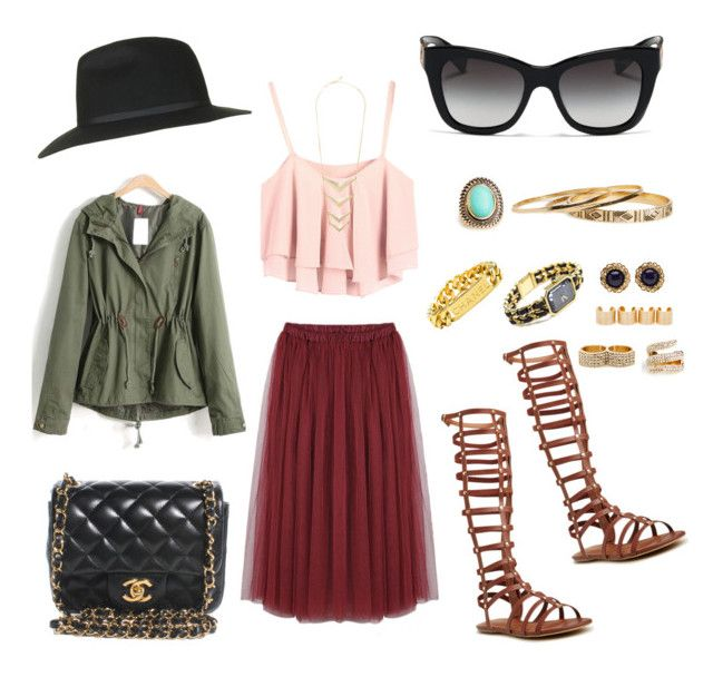 Summer to Fall 2014 by creaturesoftweed on Polyvore featuring polyvore fashion style Chicnova Fashion Steve Madden Chanel DailyLook Dolce&Gabbana Topshop clothing FadoraHats