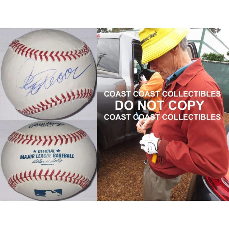 Clint Eastwood, Trouble with the Curve, Star, Signed, Autographed, MLB Baseball, a COA and the Proof Photo of Clint Signing Will Be Included. Vary Rare