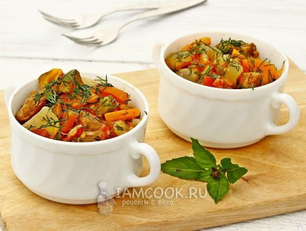Фото овощного рагу с говядиной