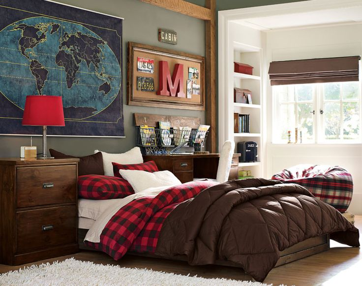 25 best ideas about guy bedroom on pinterest office for Bed styles for small rooms