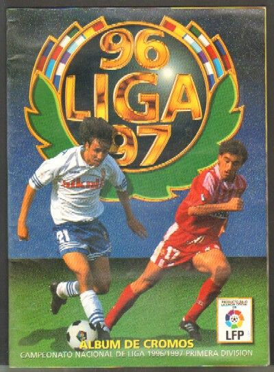 Álbum de la liga española 96/97. Creo que no era de panini.