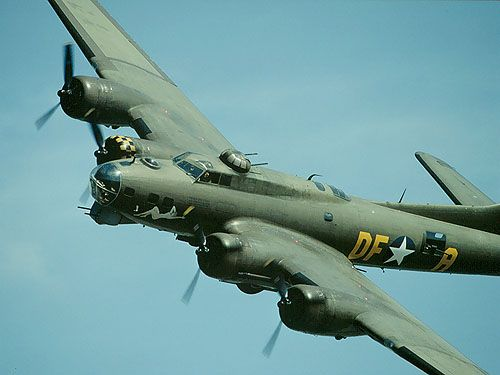 B-17.  I read somewhere that 10,000 American airmen died flying missions in the B-17. The crew was comprised of ten men.