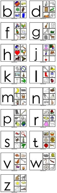 Although this website isn't in English, it does have some great letter printables!
