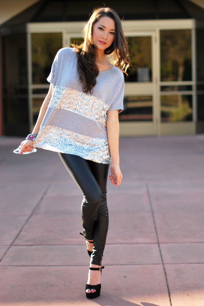 sparkle stripes. girly but not too girly! | Fashion World | Pinterest