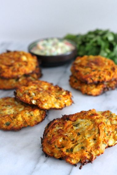 Baked Cauliflower and Sweet Potato Patties|Lisa Roukin